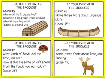 If You Lived With The Iroquois Task Cards