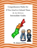 If You Lived in Colonial Times Comprehension Packet
