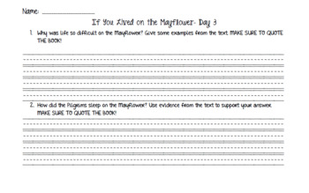 If You Lived on the Mayflower in 1620 (Level Q) Guided Reading Lesson Plan