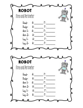 Robot and Name Area and Perimeter Project