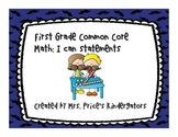 If You Mustache.. First Grade I Can Math Statements