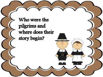 """""""If You Sailed On The Mayflower in 1620"""" Task Cards."""