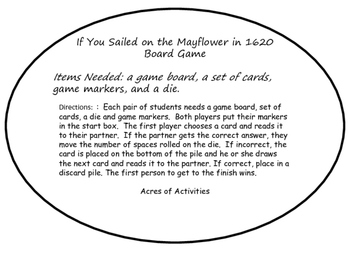 If You Sailed on the Mayflower in 1620 Board Game