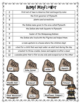 If You Sailed on the Mayflower in 1620 Vocabulary Games