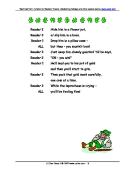 Readers Theatre: If You Should Catch a Leprechaun