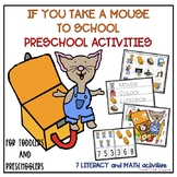 If You Take A Mouse To School Preschool Activities-Literac