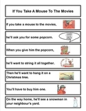 If You Take A Mouse To The Movies - sequencing pocket chart cards