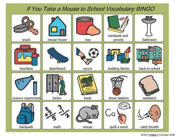 If You Take a Mouse To School BOARDMAKER Bingo