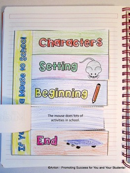If You Take a Mouse to School Sequencing Story, Interactive Reading Notebook