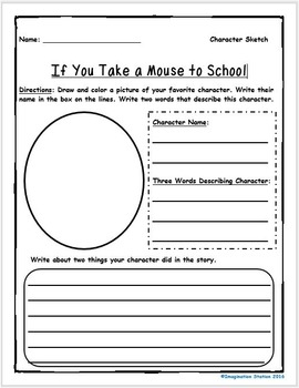 If You Take a Mouse to School Intermediate Activity Packet