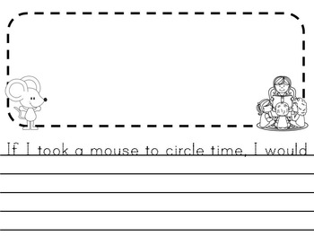 If You Take a Mouse to School Lunchbox Activity
