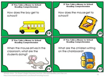 If You Take a Mouse to School Reading Comprehension Questions
