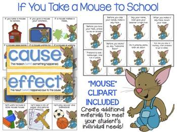 If You Take a Mouse to School- Speech & Language Book Companion
