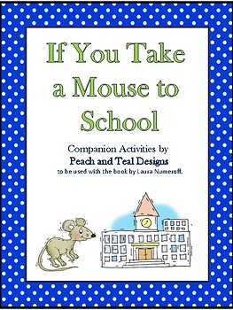 If You Take a Mouse to School Speech and Language Companion Activities