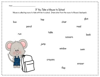 If You Take a Mouse to School with Nouns and Verbs