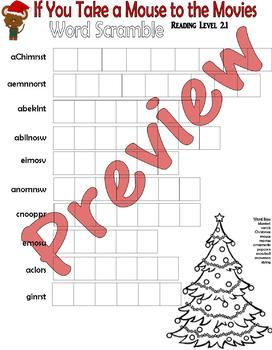 If You Take a Mouse to the Movies : Christmas Comprehension Book Study Packet