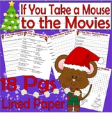 If You Take a Mouse to the Movies Christmas Comprehension Book Companion Packet