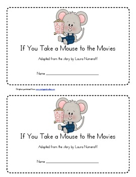 if you take a mouse to the movies coloring page - if you take a mouse to the movies emergent reader by keri