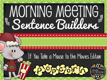 Morning Meeting Sentence Building Activity! *If You Take a
