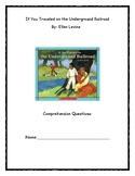 If You Traveled the Underground Railroad Novel Study