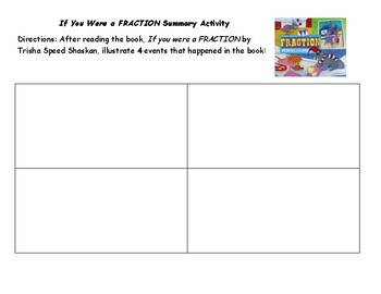 If You Were a Fraction Summary Sheet