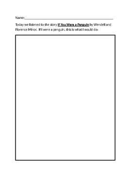 If You Were a Penguin Worksheet