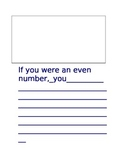 """""""If You Were an Even Number"""" writing"""