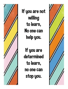 If You are Determined to Learn, No One Can Stop You Motivational Poster