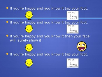 If You're Happy and You Know It Powerpoint