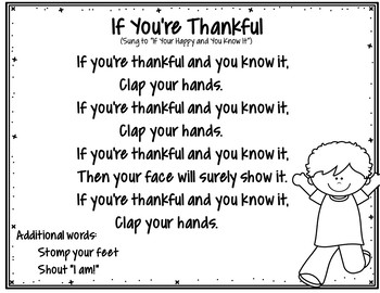 If You're Thankful (FREEBIE Pocket Chart Activity)