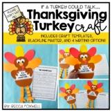 Turkey Craft | If a Turkey Could Talk... Thanksgiving Craft