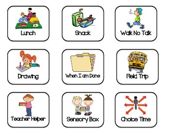 If and Then Chart First and Then Chart Autism ASD Visual Schedule Behavior