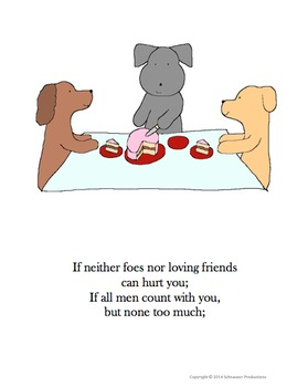 """If"" by Rudyard Kipling, Illustrated by Pepper the Pooch"