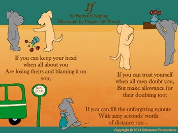 """""""If"""" by Rudyard Kipling, Illustrated by Pepper the Pooch"""