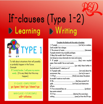 If-clauses (Type 1-2)