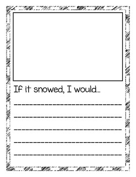 If it snowed, I would...