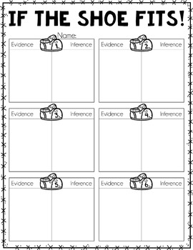 If the Shoe Fits...FREEBIE {An Inference Activity}
