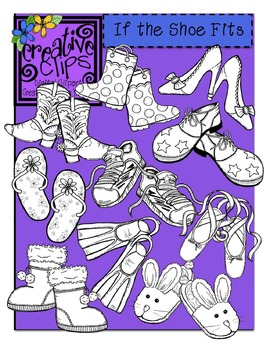 If the Shoe Fits Line Art {Creative Clips Digital Clipart}