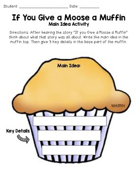 If you Give a Moose a Muffin Reading Activities