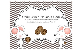 If you Give a Mouse a Cookie He will Count all the Chips! File Folder