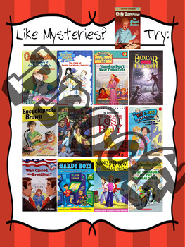 If you LOVE A to Z Mysteries......TRY these - Reading Recommendation Poster