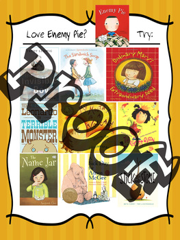 If you LOVE Enemy Pie ..... Friendship Picture Books Recommendation Poster