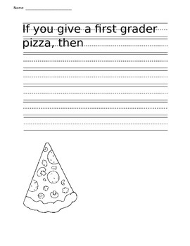 If you give a first grader pizza....