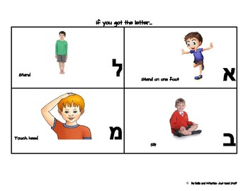 If you got the letter- Alef-Bet