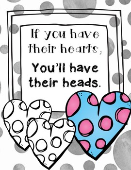 If you have their hearts, you'll have their heads POSTER