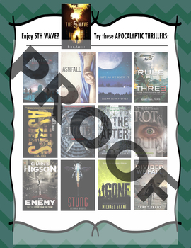 If you like 5th Wave by Rick Yancy, try these books....Recommendation Poster