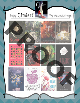 If you like Cinder by Marissa Meyer, try....... Book Recommendation Poster