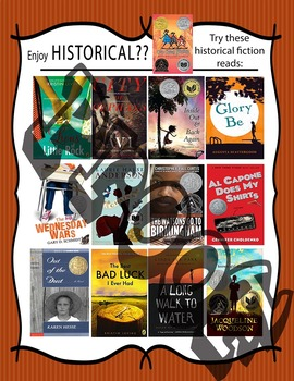 If you like Middle School Historical Fiction, try.... Recommendations Poster