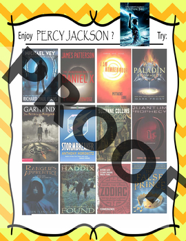 If you like Percy Jackson by Rick Riordan, try these..... Book Recommendations