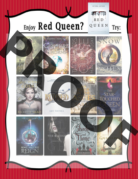 If you like The Red Queen, try.......Book Recommendation